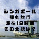 シンガポール弾丸0泊3日!滞在18時間旅行の中身をお見せします