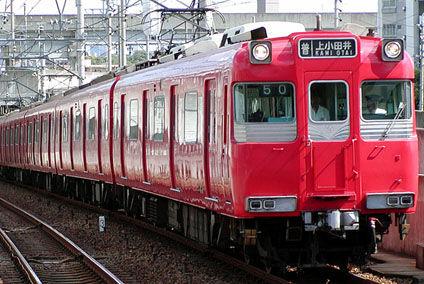 名鉄電車 行き先 上小田井 通勤電車
