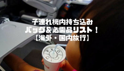 【海外旅行】子連れ機内持ち込みバッグ&必需品リスト!【国内旅行】