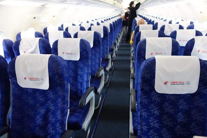 中国東方航空のエアバスA320の座席