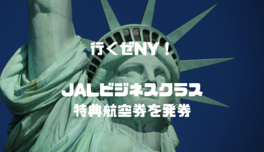 家族でマイル旅行、ニューヨークへ!JALビジネスクラス4席の特典航空券を発券