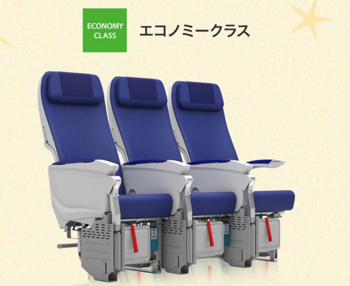 ANAエアバスA380のエコノミークラス