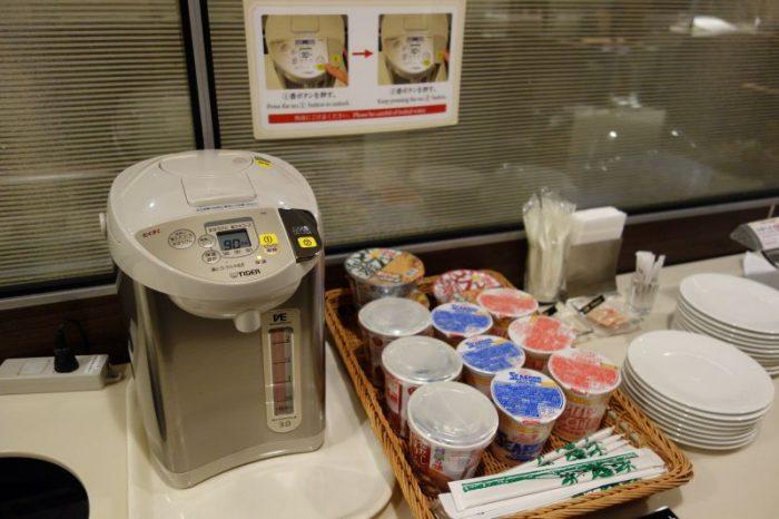 グローバルラウンジのカップ麺