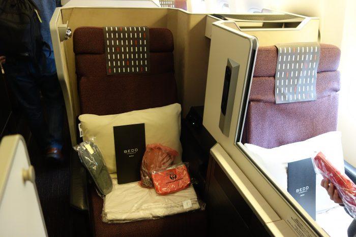 JALボーイング777-300ビジネスクラス通路側席