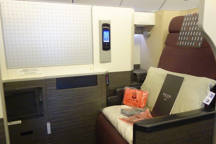 JALボーイング777-300ビジネスクラス座席