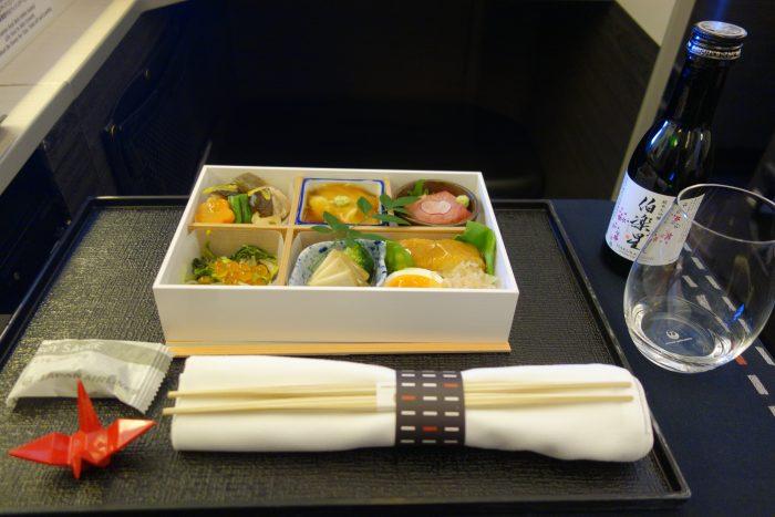 jalビジネスクラス機内食和食