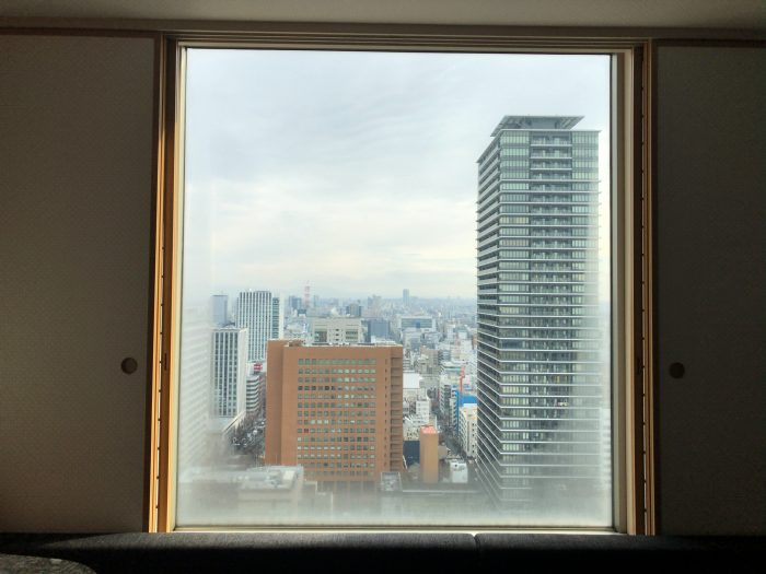 ヒルトン名古屋27階2709号室からの眺め
