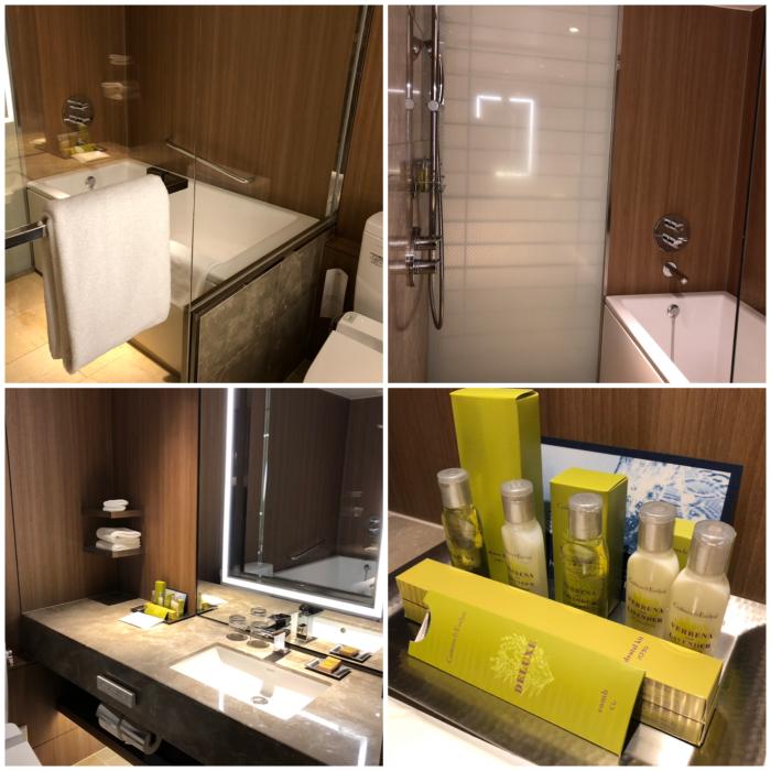 ヒルトン名古屋プレミアムエグゼクティブキングルームのバスルーム