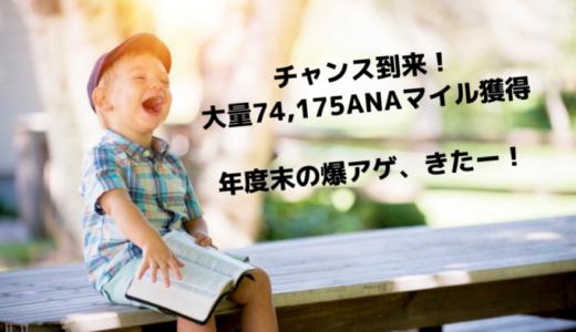 【チャンス到来!】大量74,175ANAマイルが獲得できる大型キャンペーン、手に入れよう!