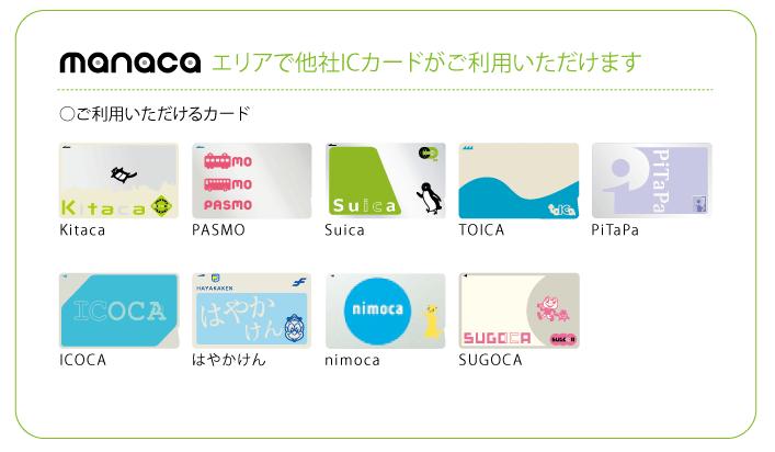 ミュースカイで使える交通系ICカード