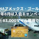 【ANA83,000マイル獲得可能】2019年8月ANAアメックスゴールド入会キャンペーンが激アツ!!