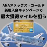 【ANA72,000マイル獲得可能】2019年11月ANAアメックスゴールド入会キャンペーンが激アツ!!