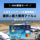 【2020/8月】ANA東急カードの入会キャンペーンを解説。ポイントサイト利用がおトク!