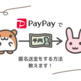 【匿名で送金】TwitterやInstagramの友だちにお金を払うときはPayPayが最適!【個人間送金】