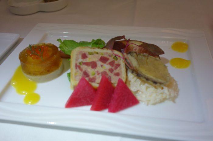 ANAメキシコシティ行きビジネスクラス機内食前菜