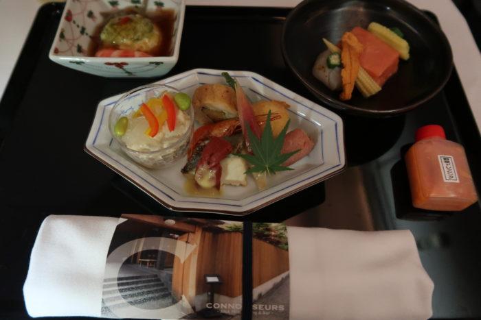 ANAメキシコシティ行きビジネスクラス機内食和食前菜